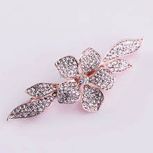 wholesale rhinestone crystal baby fashion stone small hair extension snap clips