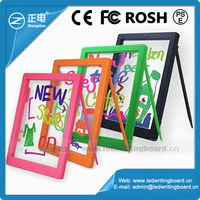 Battery operated led board writing board for kids