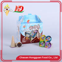 Chocolate ice cream cup packing cheap wholesale/marshmallow candy
