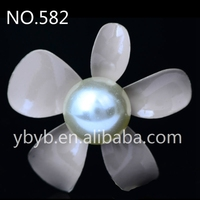 30mm mini goody alloy pearl flower korea garment accessories buckle hair accessories buckle