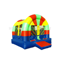 inflatable trampoline,rainbow color inflatable jumper inflatable bouncer house for kids play G1173
