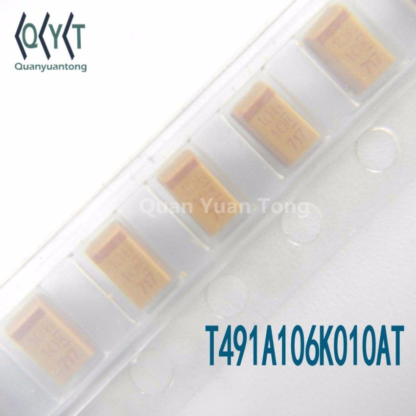 New Solid SMD Tantalum Capacitor T491A106K010AT
