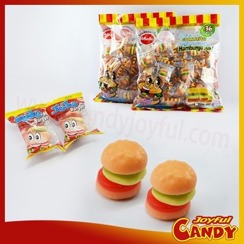 Hamburger mixture fruity flavor gummy candy