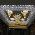 Handmade blown long large glass art hotel lobby chandelier