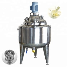 stainless steel tank homogenizer and pasturizer for milk