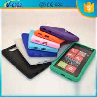 Soft Rubber TPU Gel Case Back Cover Skin for Nokia Lumia 520