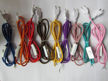 China supplier AC power plug cord + vintage cables with EU 2pin plug