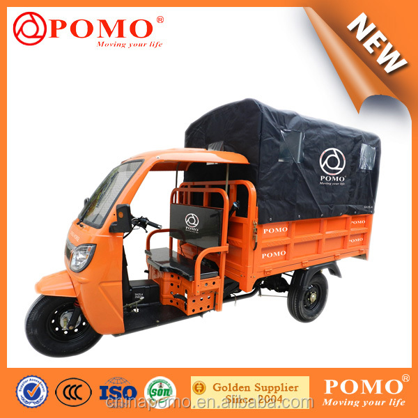 China Cargo Tricycle with Semi-closed Cabin POMO Steel Horse 250cc Air Cooled Engine Tricycle Spare Parts Real Axle