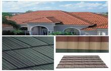 COLOURFUL STONE COATED ALUMINIUM METAL ROOFING TILES\NEW RECYCLABLE BUILDING MATERIALS
