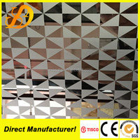 Laser Cutting 304 Stainless Steel Screen Design for Decorative Wall Panels
