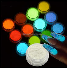 1 Box 10g Luminous Nail Glitter Powder Star Moon Paillette Glow in the Dark Manicure Nail Art Sequins Decorations