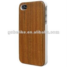 Hot Sale! Lignum-vitae Wood Case For iPhone 4 4S