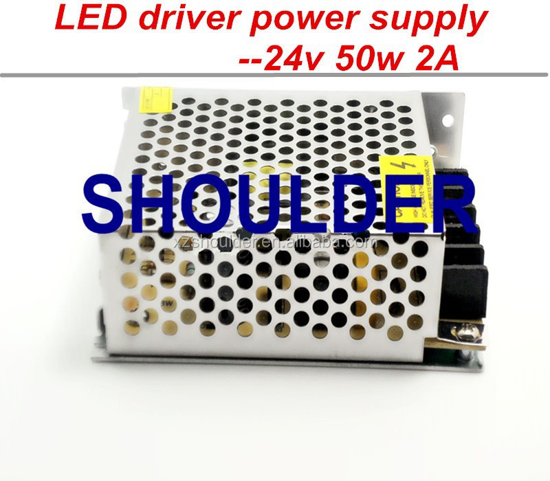 Transformer 24V 2A 50w Switching led DC Power Supply led driver for 3528/5050 LED strip light block power