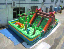 Dinosaur inflatable playground, Giant inflatable bouncer, inflatable jumping slide on sales