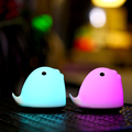 Cute LED Dolphin Night Light Automatic 5-Color-Changing Kids Bedroom Animal Lamp Nightlight