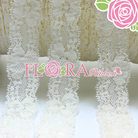 Wholesale White Color Elastic Lace Ribbon for Baby Headband Decoration