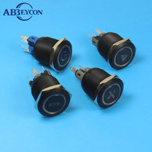 25mm metal 220v momentary illuminate push button switch with led
