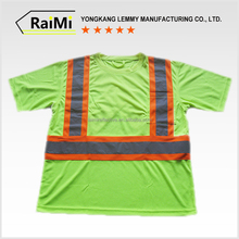 Unique design High Grade 100% polyester work shirts reflective tape