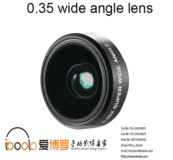 Professional lens 0.35 super wide angle lens with universal chip for cell phone