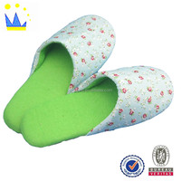 wholesale japan sex girl house slipper printed fabric lady slipper