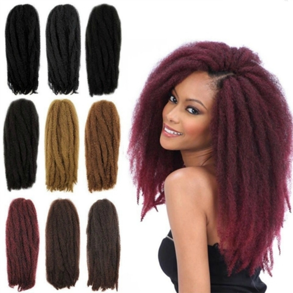Free sample Fashion Hair Synthetic Kinky Crochet Twist Hair Bulk/Afro twist kinky crochet braids/afro curl marley braid hair
