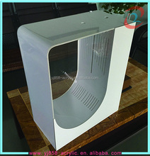 OEM customized high quality acrylic/perspex fish tank elegant white