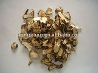The cutted slice of dried Dandelion root