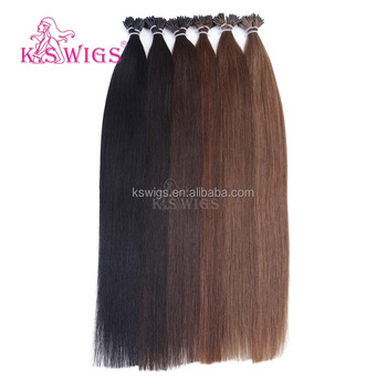 K.S WIGS 2016 Inventory I-tip/ Stick Tip Hair Extensions Hot Hair Indian Virgin Hair Wholesale Order Prices Extensions