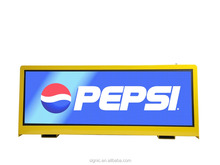 full color mobile 3g advertising led display screen 7000 nits taxi top digital led billboard China supplier