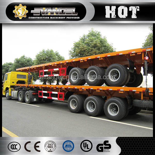 trailer dimensions and truck prices 40 feet 3 axles container flat semi-trailer