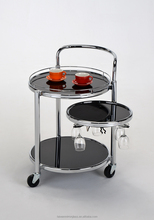 New types of service trolley kitchen glass serving trolley