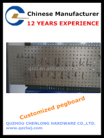 OEM Metal Pegboard Display shelf with hooks