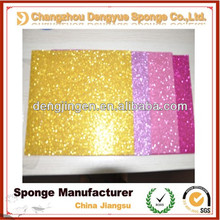 colorful Ingenious eva foam glitter sheets for childs