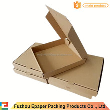 9 inches kraft paper box easy assembled food packing boxes for pizza
