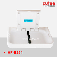 Safety Horizontal Folding Plastic Baby Diaper Changing Table Station