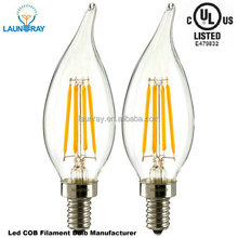 Ceiling Chandelier110V 220V Dimmable Lighting E14 E12 Dimmable 4W 6Watt LED Filament Candelabra Light Bulbs,1100lm/w Ra85 PF0.9,
