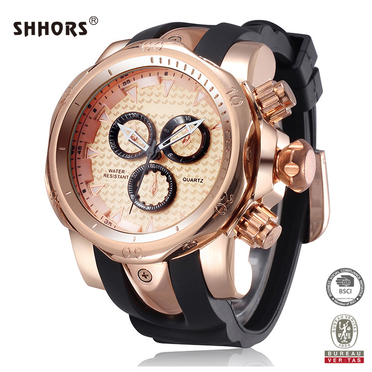 SHHORS Luxury Cool Style Quartz Zinc Alloy Males Watch Design