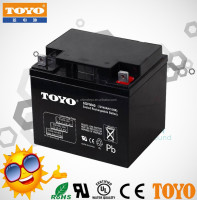 Deep cycle working 12V 40ah lead acid battery for solar system