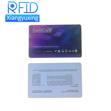 Long range uhf passive customised printing rfid blank pvc card for car parking system