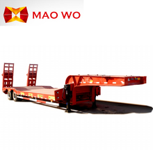 Hot sale gooseneck 3 axle low bed semi trailer and heavy transport trailer