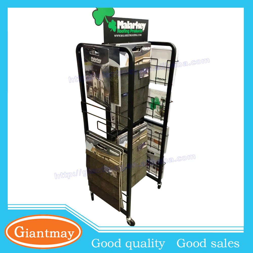 multiple frame wire hanging tile display rack for tile shop