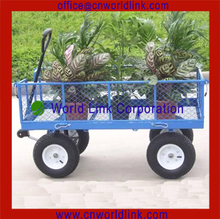 Heavy Duty Steel Rolling Utility Wagon Yard Farm Garden Tools