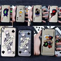 Laser printing Series of Poker Hard pc case For iphone5 5s/ 6 4.7inch/ 6 plus 5.5inch