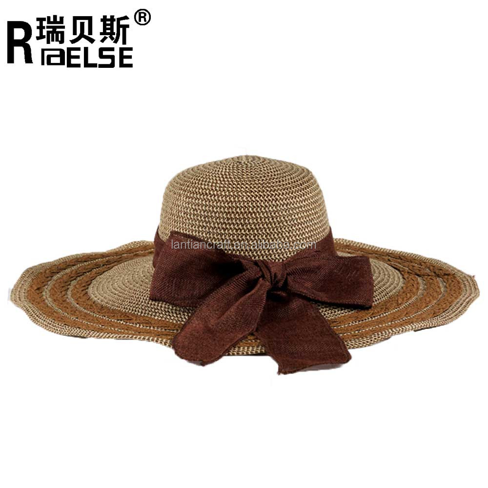 wholesale hat beach ladies hat cheap for girl paper straw floppy hat