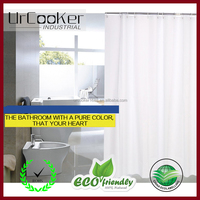 Home goods pure white shower curtains with plastic hook