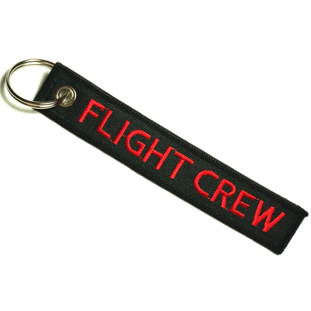Custom embroidered airline crew luggage name tag