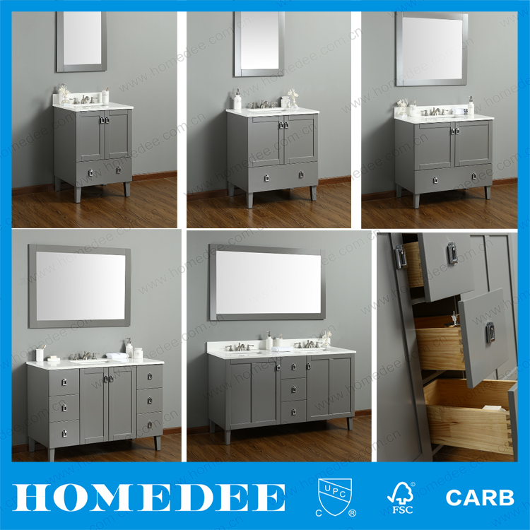 2017 Homedee classic white bathroom vanity cabinet made in china
