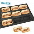 Large kitchen fiberglass silicone hot dog bakery moulds mold tray