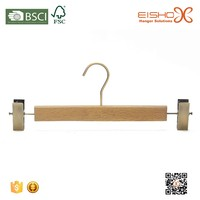 Eisho Laundry Natural Wood Pant Clothes Hanger