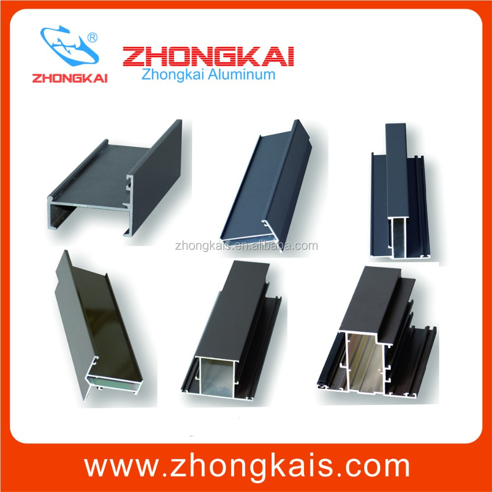 extruded aluminum window frame for making window and door frame